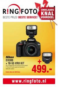 Prijskaart feestdagen Nikon D3300